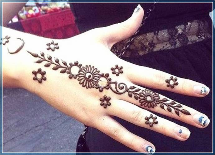 Contoh Gambar Henna Sederhana Terbaru