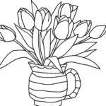 Contoh Gambar Sketsa Bunga Dalam Pot