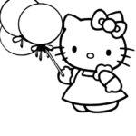 Contoh Gambar Sketsa Hello Kitty
