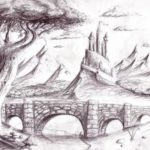 Contoh Gambar Sketsa Lukisan Sederhana