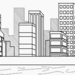 Contoh Gambar Sketsa Perkotaan