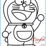 Contoh Sketsa Anime Doraemon