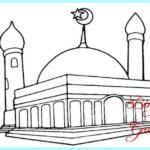 Contoh Sketsa Masjid Minimalis