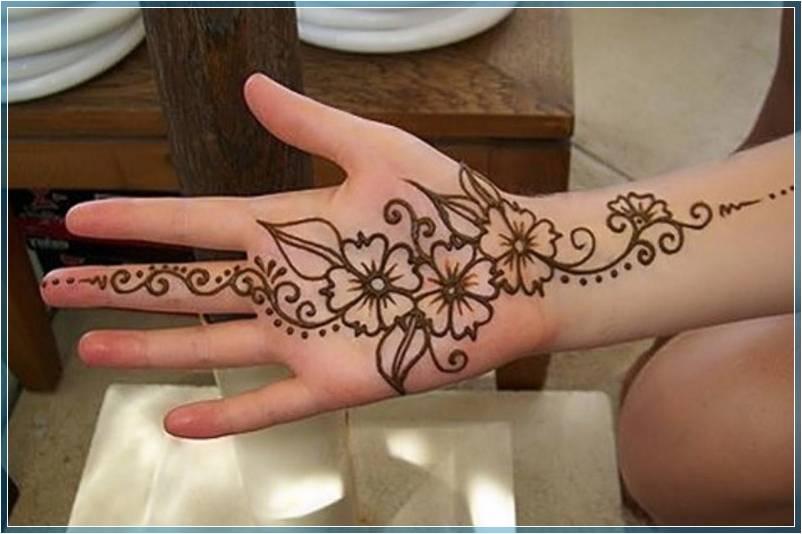 Gambar Gambar Henna Sederhana Terbaru