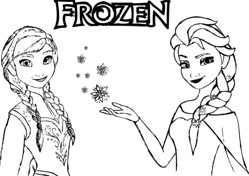 Gambar Gambar Sketsa Frozen Dan Elsa