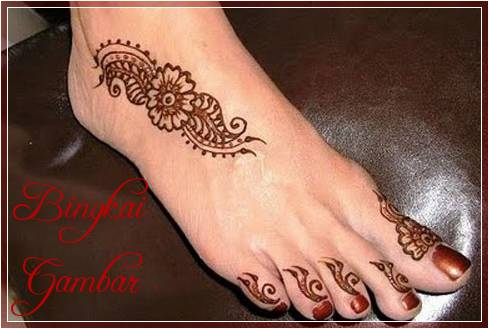 Gambar Henna Di Kaki Terbaik