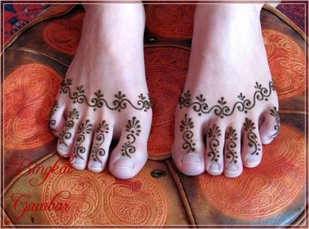 Gambar Henna India Di Kaki Terbaik