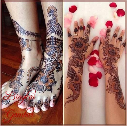 Gambar Henna Kaki Dan Tangan Terbaik