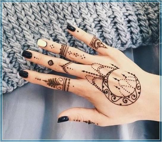 Gambar Henna Sederhana Dan Simple Terbaru Bingkaigambar Com