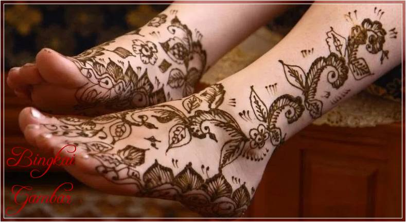 Gambar Henna Sederhana Di Kaki Terbaik