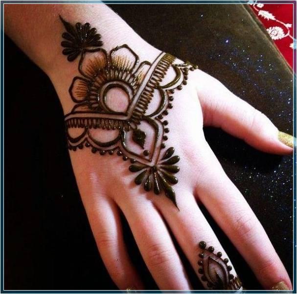 Gambar Henna Simple Menarik Terbaru