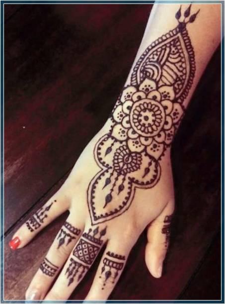 Gambar Henna Simple Modern Terbaru