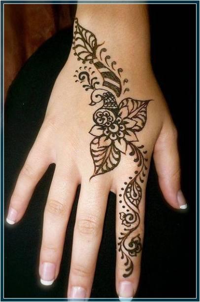 Gambar Henna Simple Mudah Terbaru