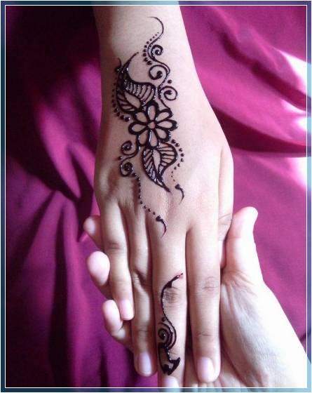 Gambar Pacar Henna Simple Terbaru