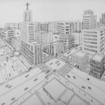 Gambar Sketsa Alam Perkotaan