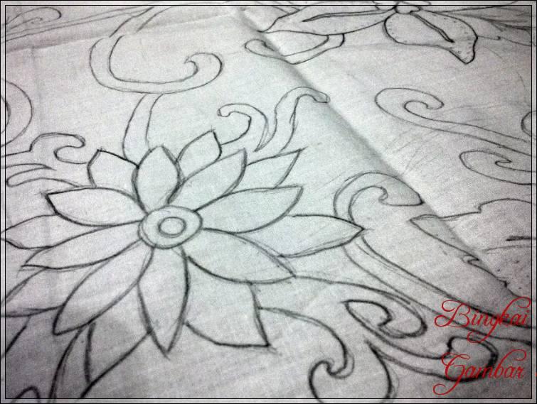 Gambar Sketsa Batik Daun Bingkaigambar Com