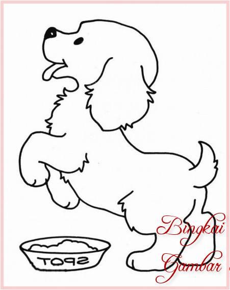 Gambar Sketsa Binatang Anjing