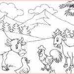Gambar Sketsa Binatang Dan Pemandangan