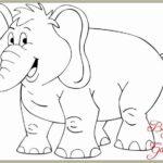 Gambar Sketsa Binatang Gajah