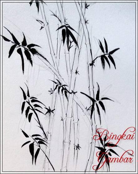 Gambar Sketsa Daun Bambu