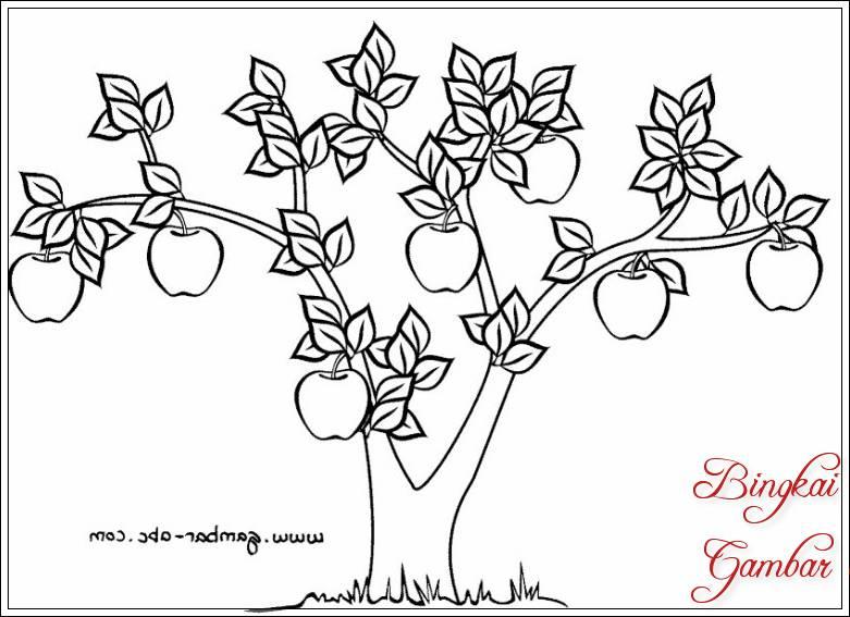 Gambar Sketsa Daun Dan Pohon