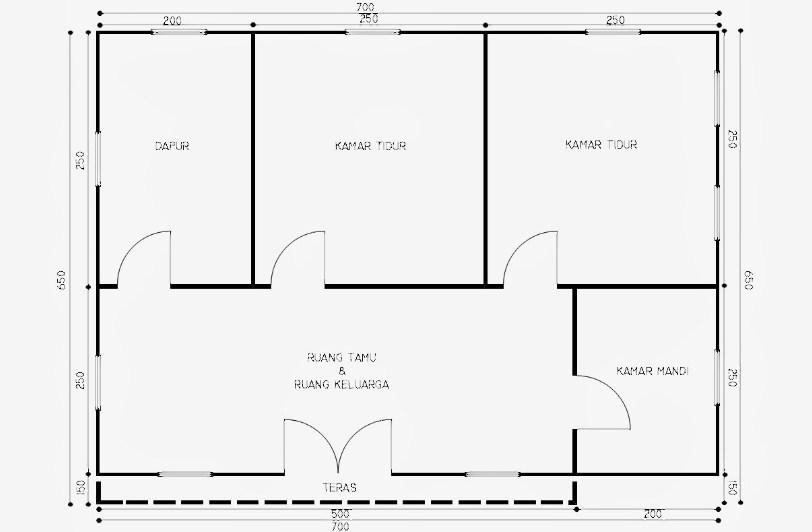 Gambar Sketsa Denah Rumah Sederhana