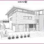 Gambar Sketsa Desain Eksterior Rumah