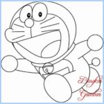 Gambar Sketsa Doraemon Hitam Putih