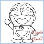 Gambar Sketsa Doraemon Paling Mudah