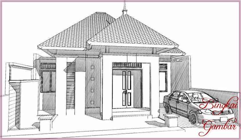 Gambar Sketsa Eksterior Rumah