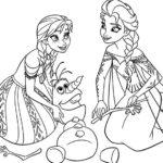 Gambar Sketsa Frozen Elsa