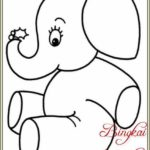Gambar Sketsa Gajah Duduk