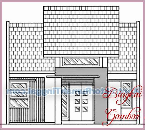 Gambar Sketsa Genteng Rumah