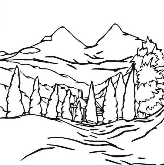 Gambar Sketsa Gunung Merapi