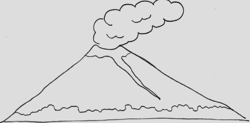 Gambar Sketsa Gunung Slamet