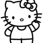 Gambar Sketsa Hello Kitty
