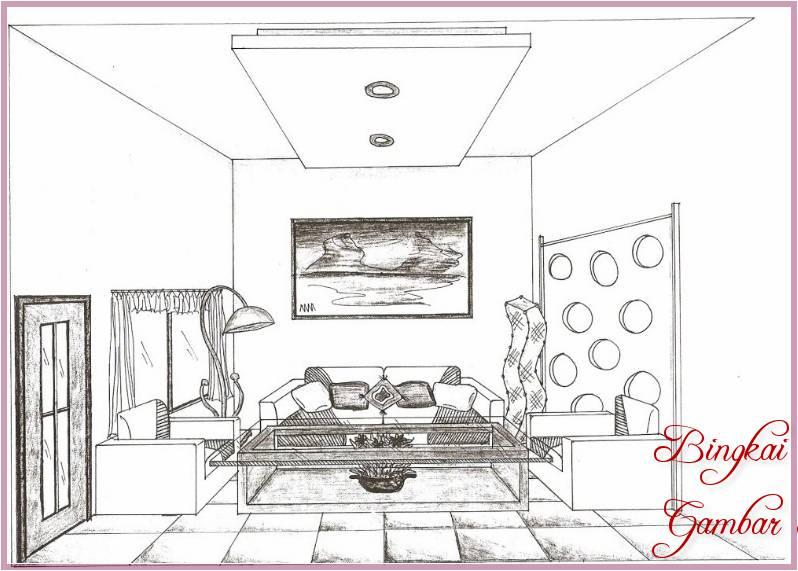 Gambar Sketsa Interior Rumah