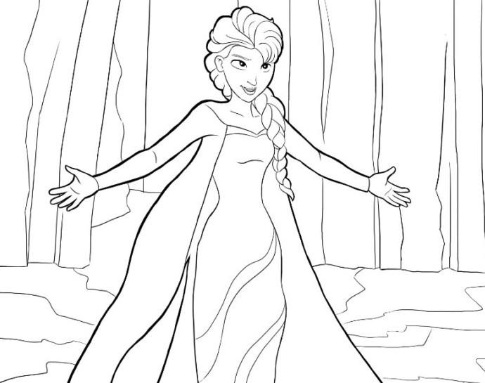 Gambar Sketsa Kartun Frozen