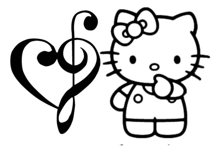 Gambar Sketsa Kartun Hello Kitty
