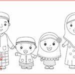Gambar Sketsa Kartun Islami