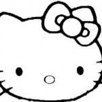 Gambar Sketsa Kepala Hello Kitty