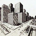 Gambar Sketsa Kota Metropolitan