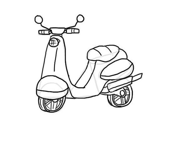 Gambar Sketsa Motor Sederhana