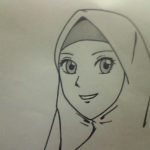 Gambar Sketsa Muslim Muslimah