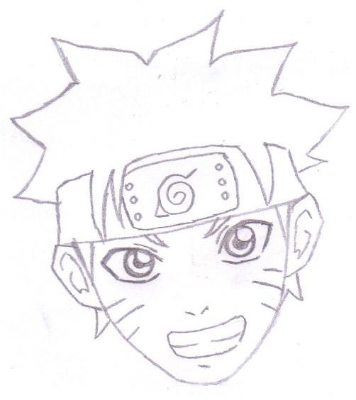 Gambar Sketsa Naruto Sederhana