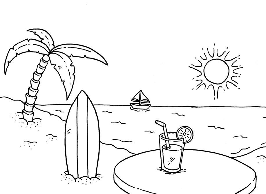 Gambar Sketsa Pemandangan Lautan