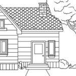 Gambar Sketsa Pemandangan Rumah