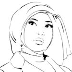 Gambar Sketsa Perempuan Muslimah