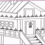 Gambar Sketsa Rumah Adat Jambi