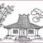 Gambar Sketsa Rumah Adat Jawa